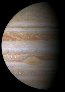 Jupiter ici prise par Cassini. Retour prévu vers 2026...