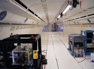 Le Zéro G de Novespace vu ici de sa cabine intérieure